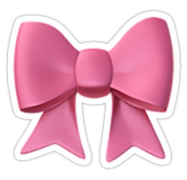 Bow Emoji Sticker By Nerdychick In 2020 Emoji Stickers Preppy Stickers Preppy Gifts
