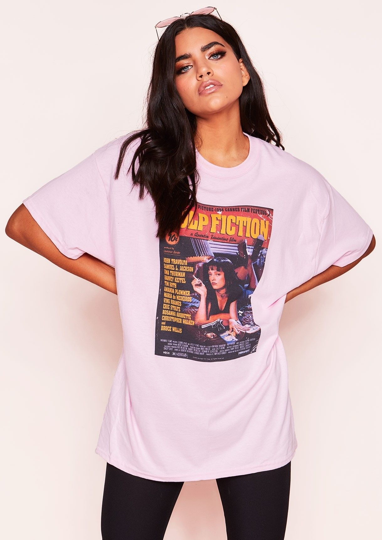 Mia Pink Graphic Oversized T-Shirt   Casual tshirt outfit, Trendy ...