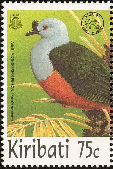 Micronesian Imperial Pigeon stamps - mainly images - gallery format