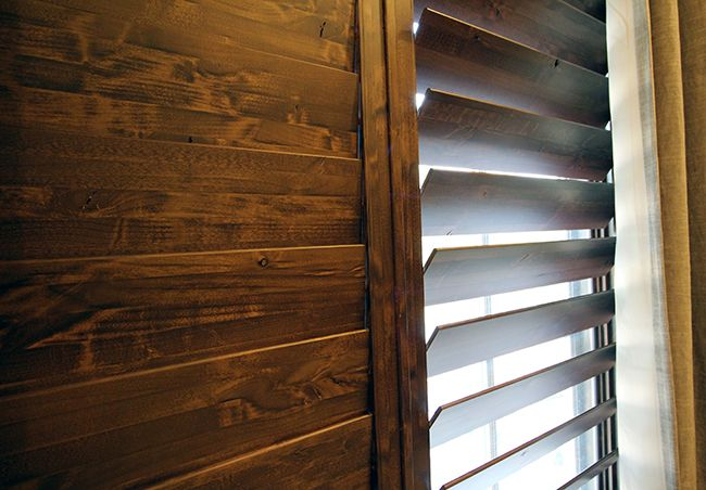 Check Out The Beauty Of Natural Grain And Textures In Our Knotty Alder Shutters