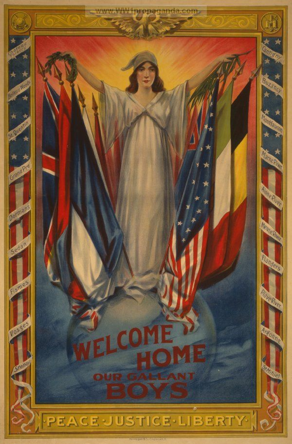 1918 WELCOME HOME OUR GALLANT BOYS