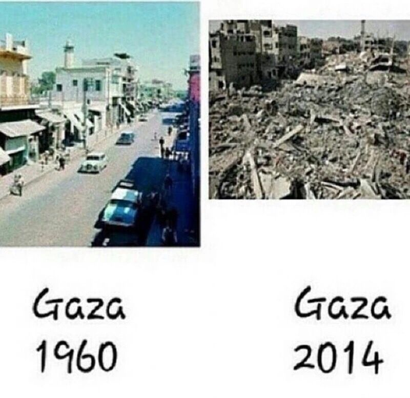 Gaza before and after...