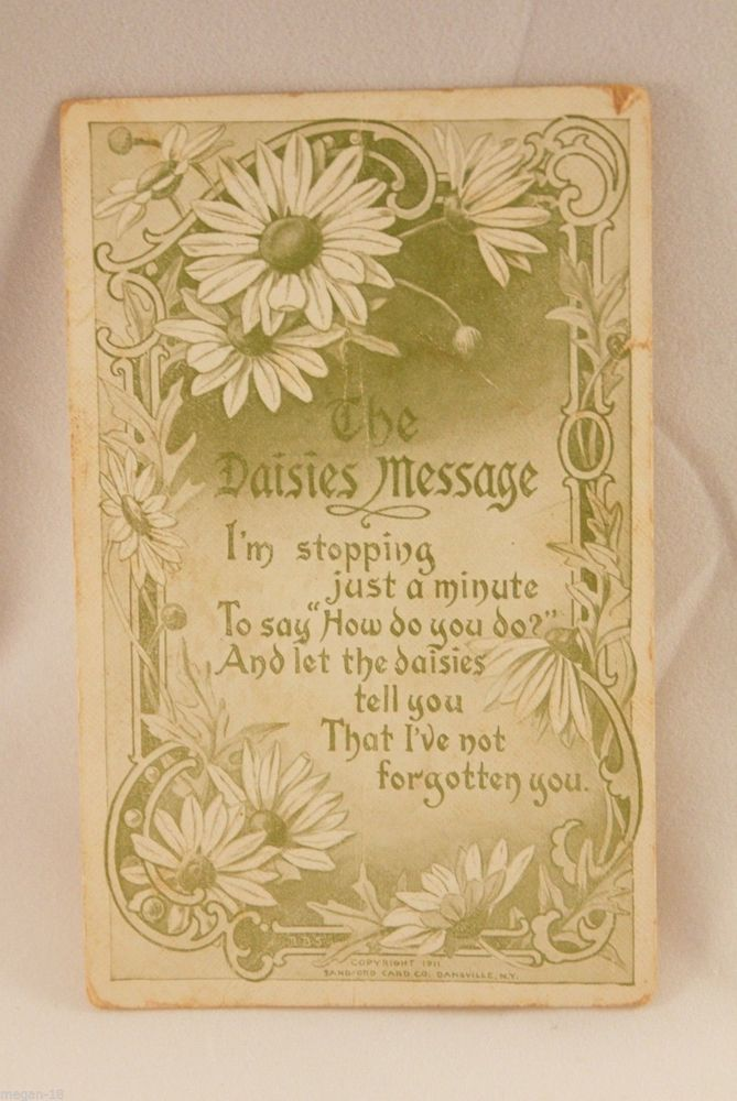 Postcard~Daisies Message, Not Forgotten You~Vintage~Antique~ in Collectibles, Postcards, Other Collectible Postcards | eBay