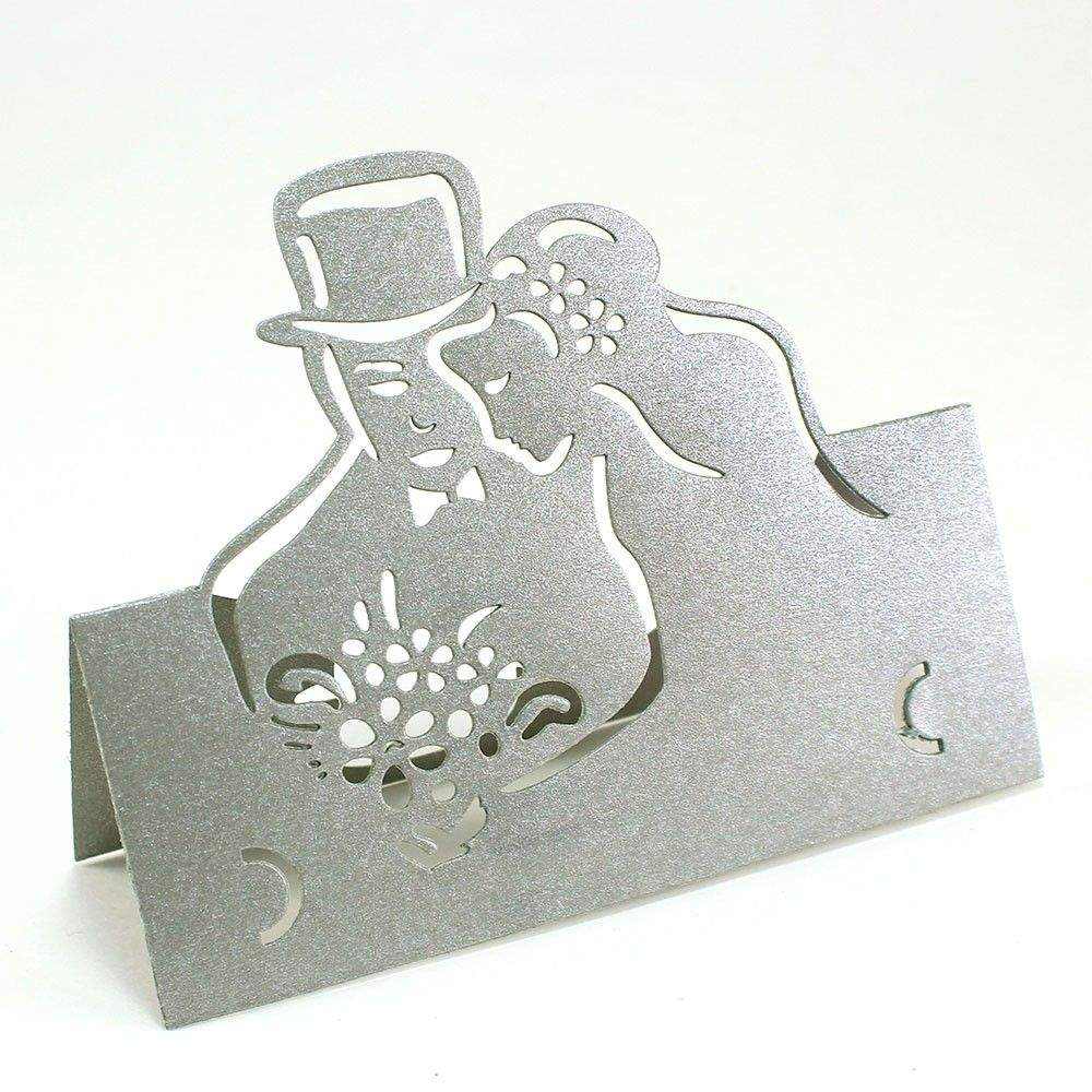 Paper Cutout Bride And Groom Place Cards | Wedding Favors and Ideas ...