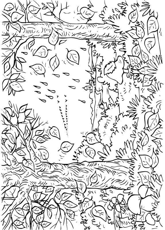 Malvorlagen Herbst Bild Es Ist Herbst Zum Ausmalen Ausmalbilder Ausmalen Malvorlagen Tiere