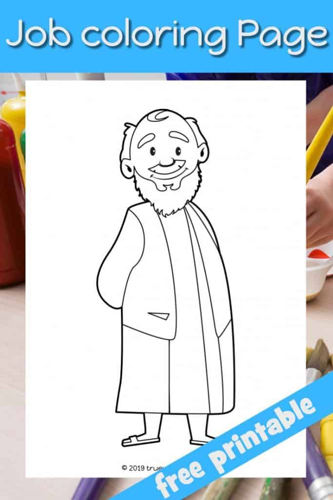 Job Bible coloring page. Man in Bible clothes. Free ...