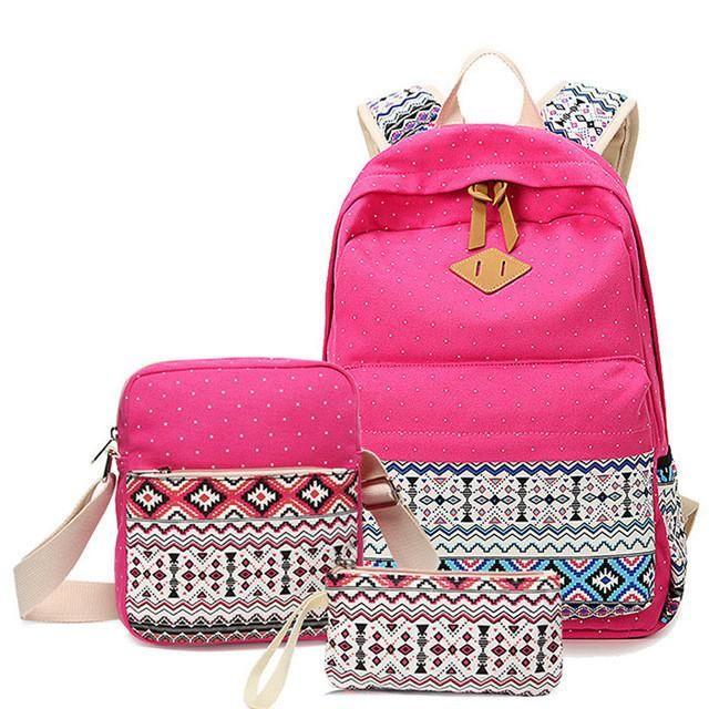 Backpack Leather Retro Fe bag schoolbags Teenage Girl Travel books Ruckk Shoulder Bags