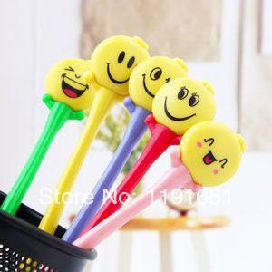 Free shipping 10pcs/lot Cartoon Creative ballpoint pen Low price promotional   design smile face pens wholesale $11.50