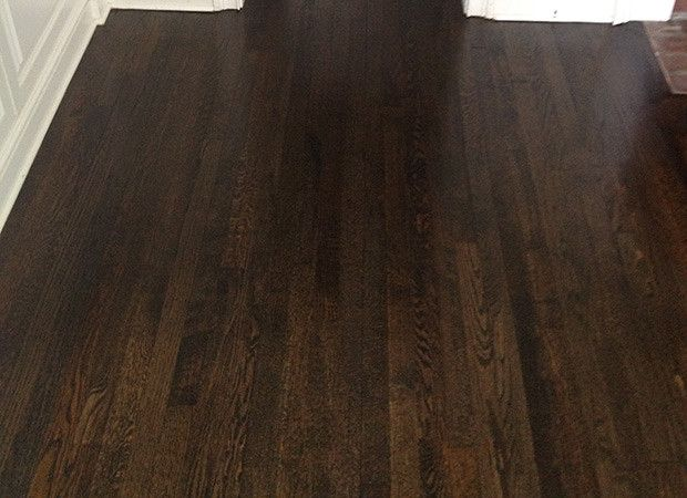 JACOBEAN stain is my first choice not ebony or espresso ...