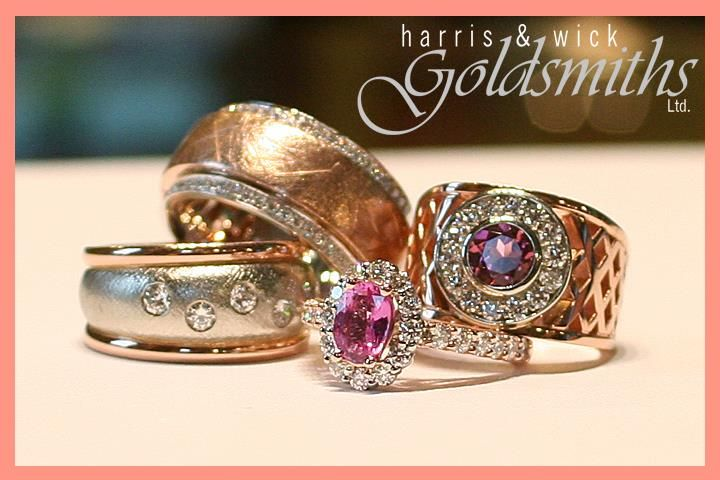 Rose Gold Rings Galore! With Diamonds, Pink Tourmaline and Pink Sapphire.
