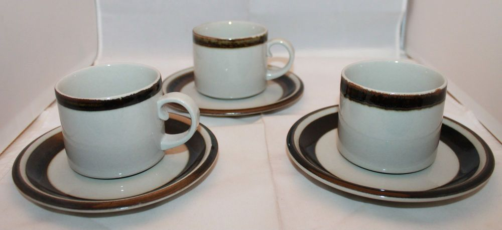 Arabia Finland Set of 3 Karrelia Saucers Replacement Anja Jaatinen-Winqvist