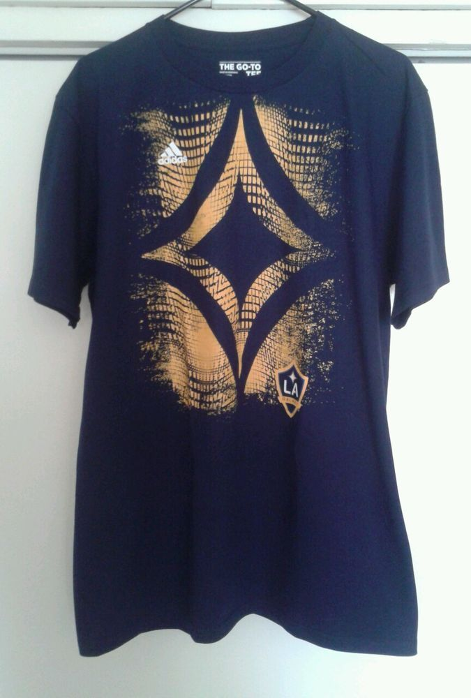 Los Angeles LA Galaxy MLS Soccer Blue Adidas Tee Shirt NEW---SOLD!