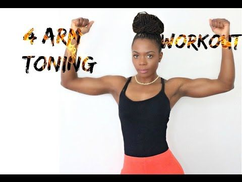 4 easy arm toning workout no equipment no pushup/jungle