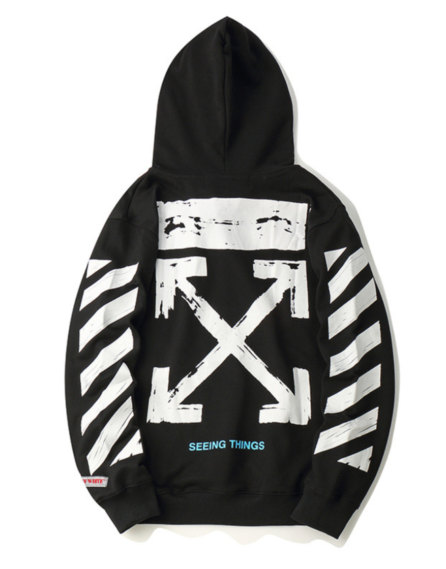 Off White Hoodie Blvcks Street Culture In 2020 Off White Clothing Off White Hoodie Off White Hoodie Black
