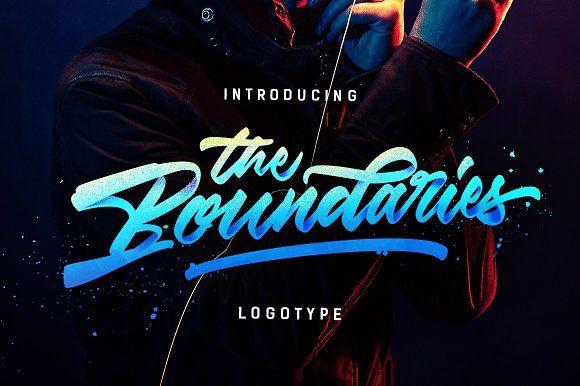 BOOM!! The Boundaries - Logotype by Dirtyline Studio on @creativemarket