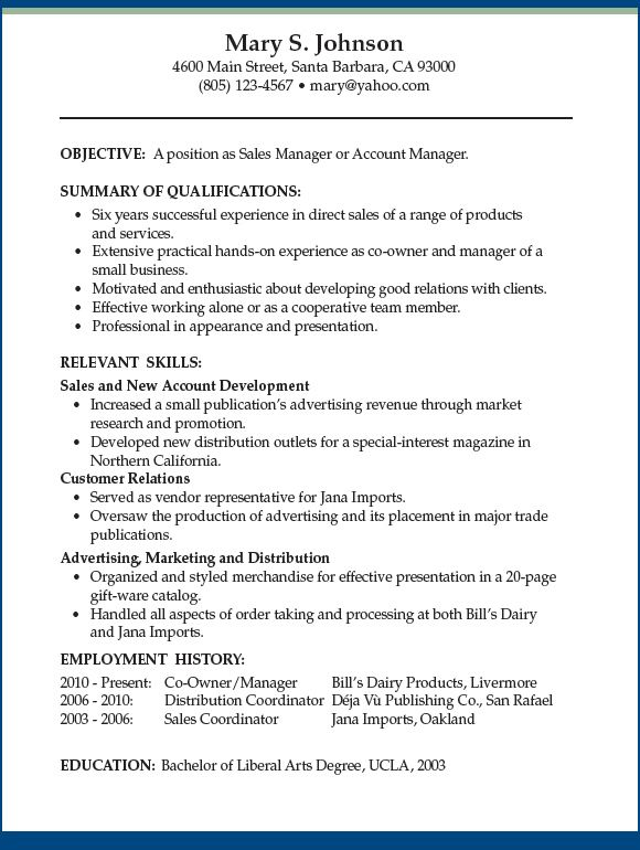 Functional Format for Résumés │ Job Talk with Anita Clew Anita - resume for manager position