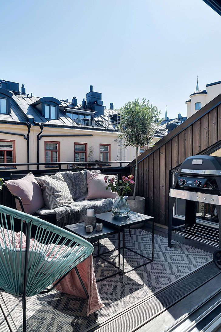 Photo of 〚 Black and white apartment with a small terrace in Stockholm (70 sqm) 〛 ◾ Photos ◾ Ideas ◾ Design