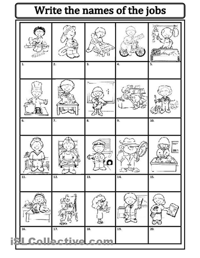 Jobs Occupations Worksheets For Kids Kindergarten Worksheets Printable Worksheets