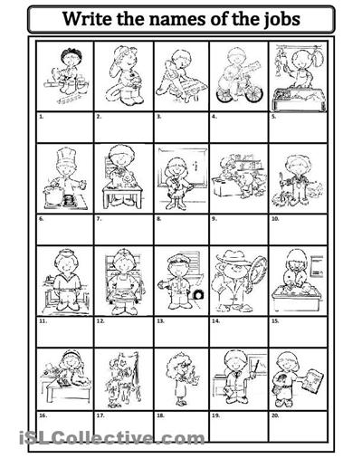 Jobs Occupations Worksheets For Kids Worksheets Free Teacher Worksheets