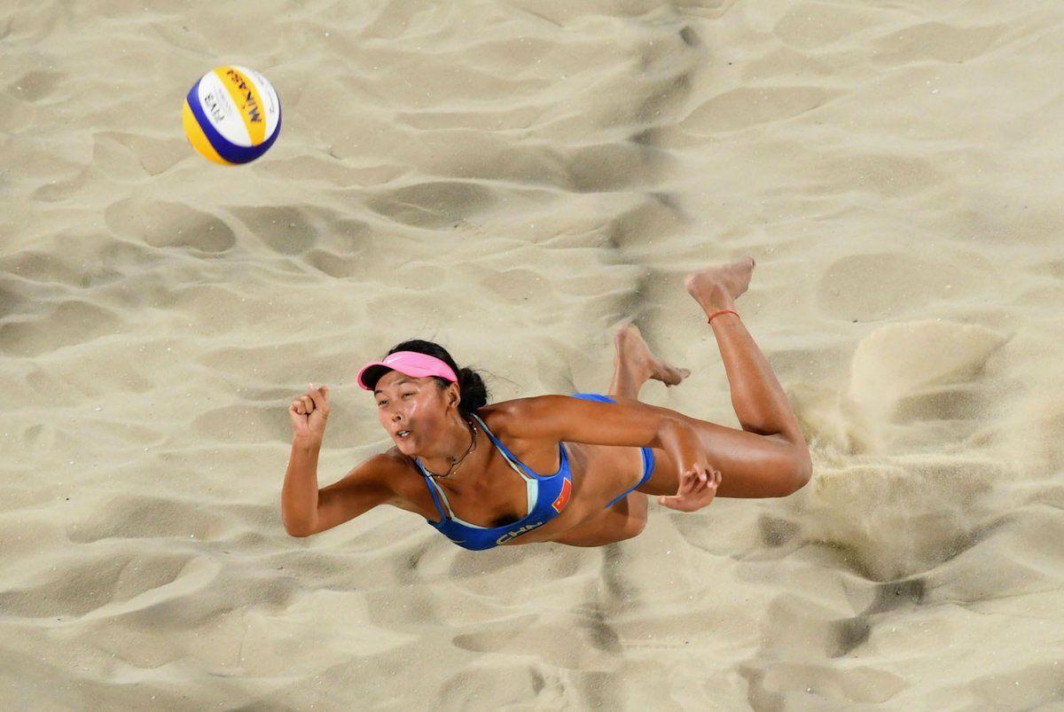 Busty girls playing volleyball, sexting nake