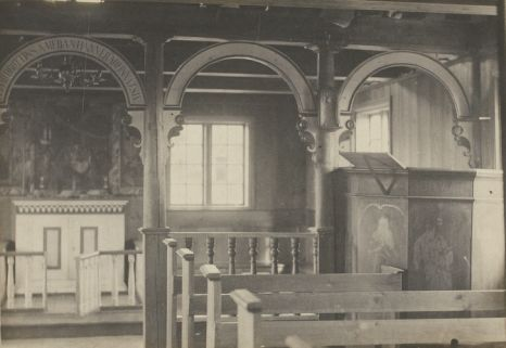 1886 - L'intérieur d'un temple Islandais. Photographe : Henry Labonne.