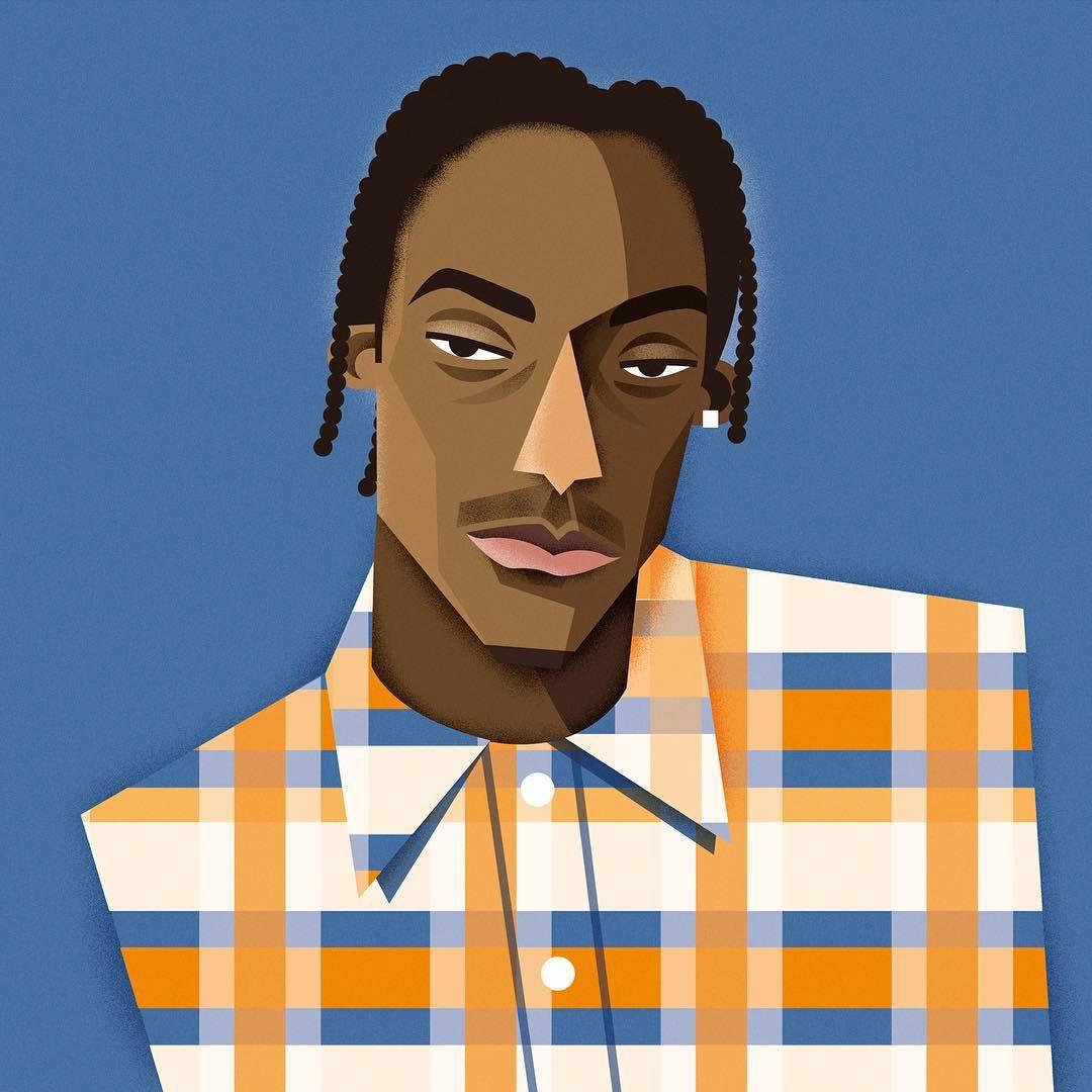 Snoop Dogg Snoopdogg Doggy Dog Illustration Hiphop