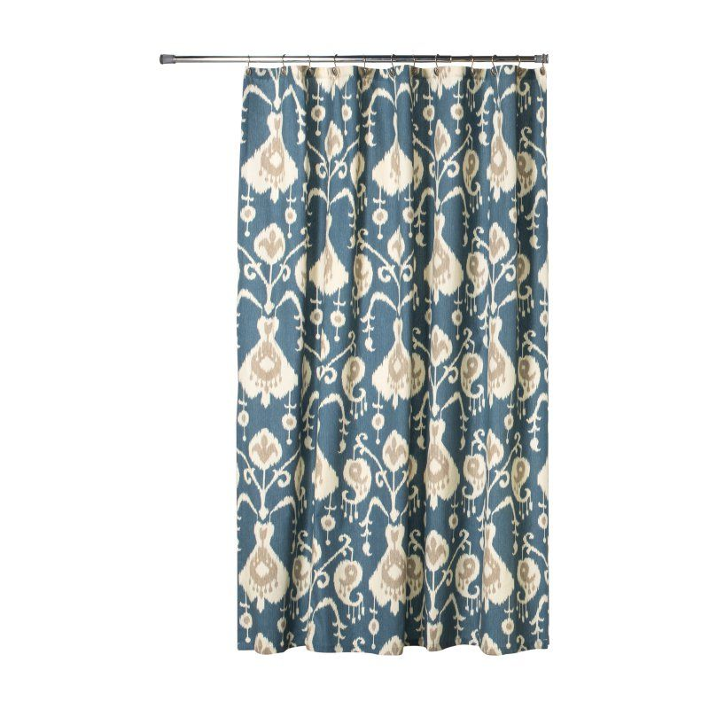 Thomasville At Home Java Sail Cotton Extra Long Shower Curtain