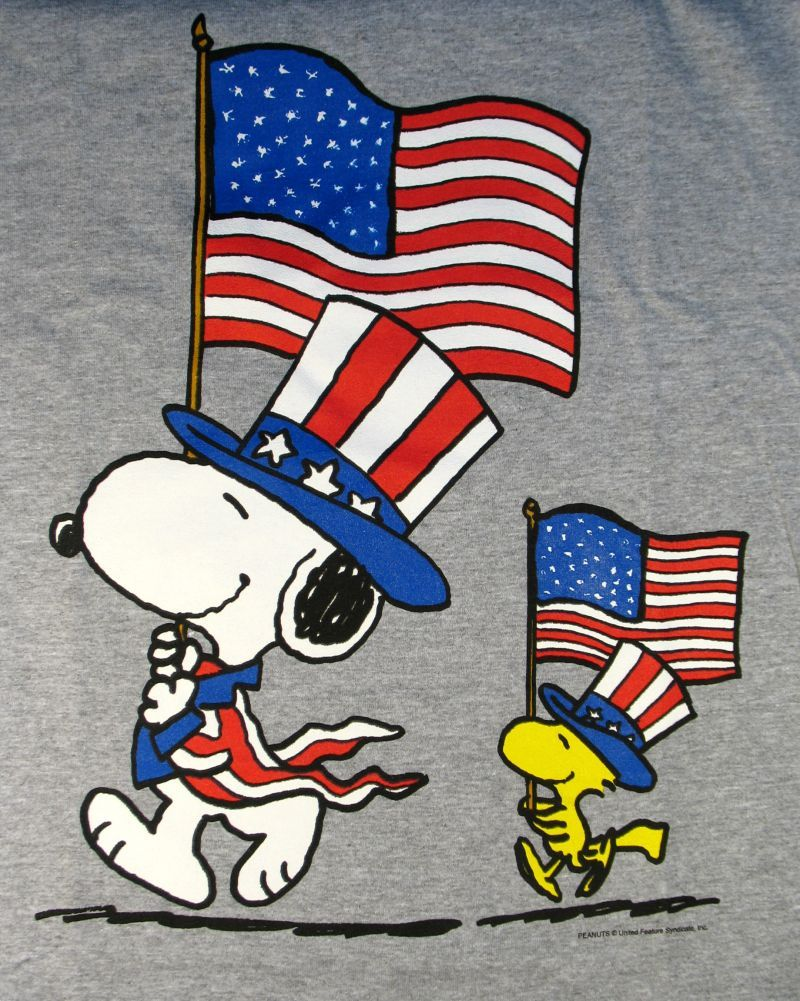 Lovely Happy Fourth Of July Snoopy