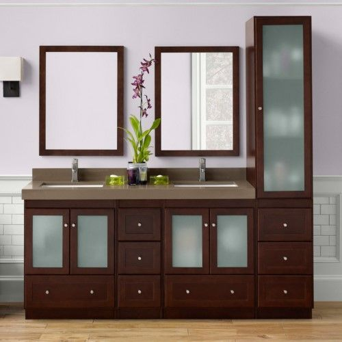 Ronbow 080824-1 Shaker 60 in. Double Bathroom Vanity Set ...