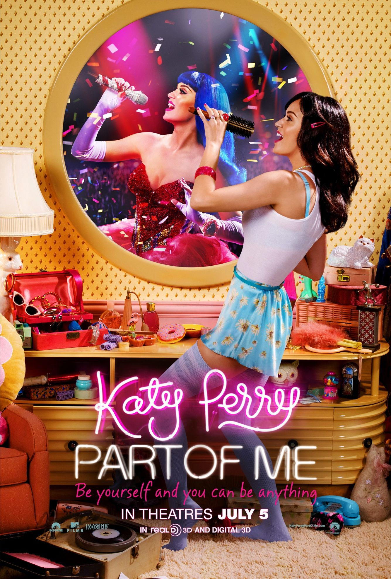 So happy to share with you the official #KP3D movie poster...from a hairbrush to a headliner...get ready, JULY 5TH! -@KatyPerry