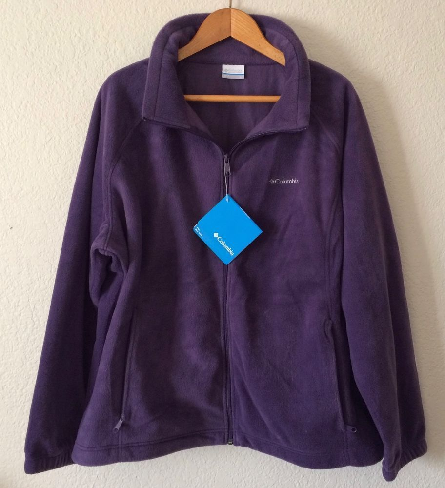 Details about Womens 3X Columbia Fleece Jacket Purple Dahlia ...