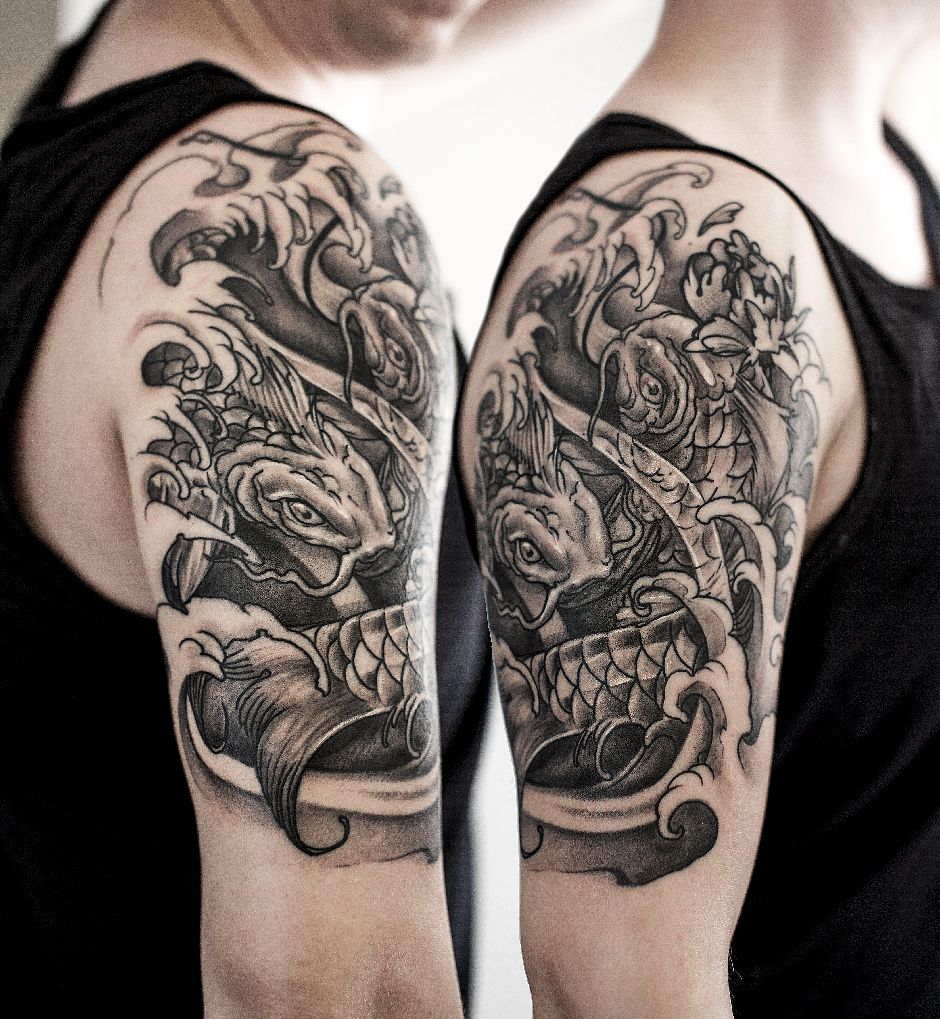 japanese half sleeve koi majlo st tattoo croatia japanese sleeve tattoo pinterest. Black Bedroom Furniture Sets. Home Design Ideas