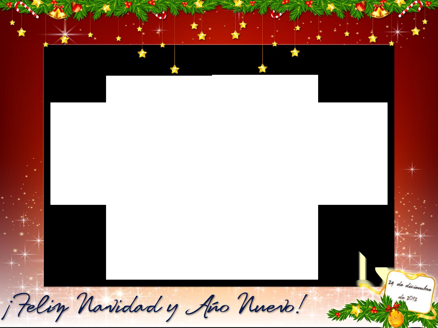 Marcos creativos para tus fotos Marco para esta Navidad | Sain-Seiya ...