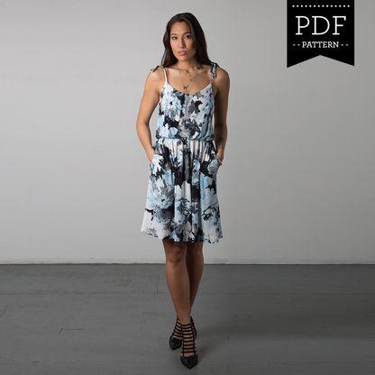 Saltspring Dress PDF Pattern | Blouse dress, Dressmaking and Pattern ...