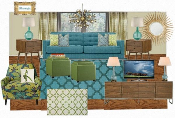 OB MidCentury Living Room 600x403 Midcentury Modern Living Room