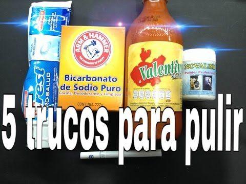 ►5 TRUCOS► PARA PULIR METALES. cosas de la despensa. plazacamacho. - YouTube
