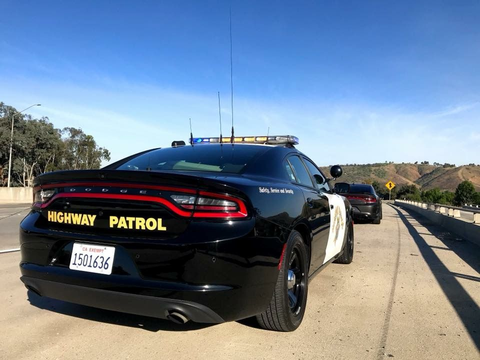 California Highway Patrol Dodge Charger Police Pursuit Took Down A