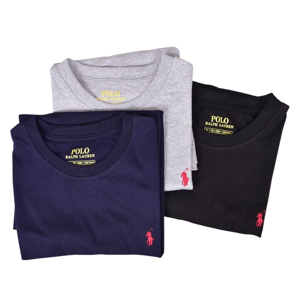 New Men Polo Ralph Lauren Crew Neck T Shirt S M L Xl 3xl 4xl 5xl