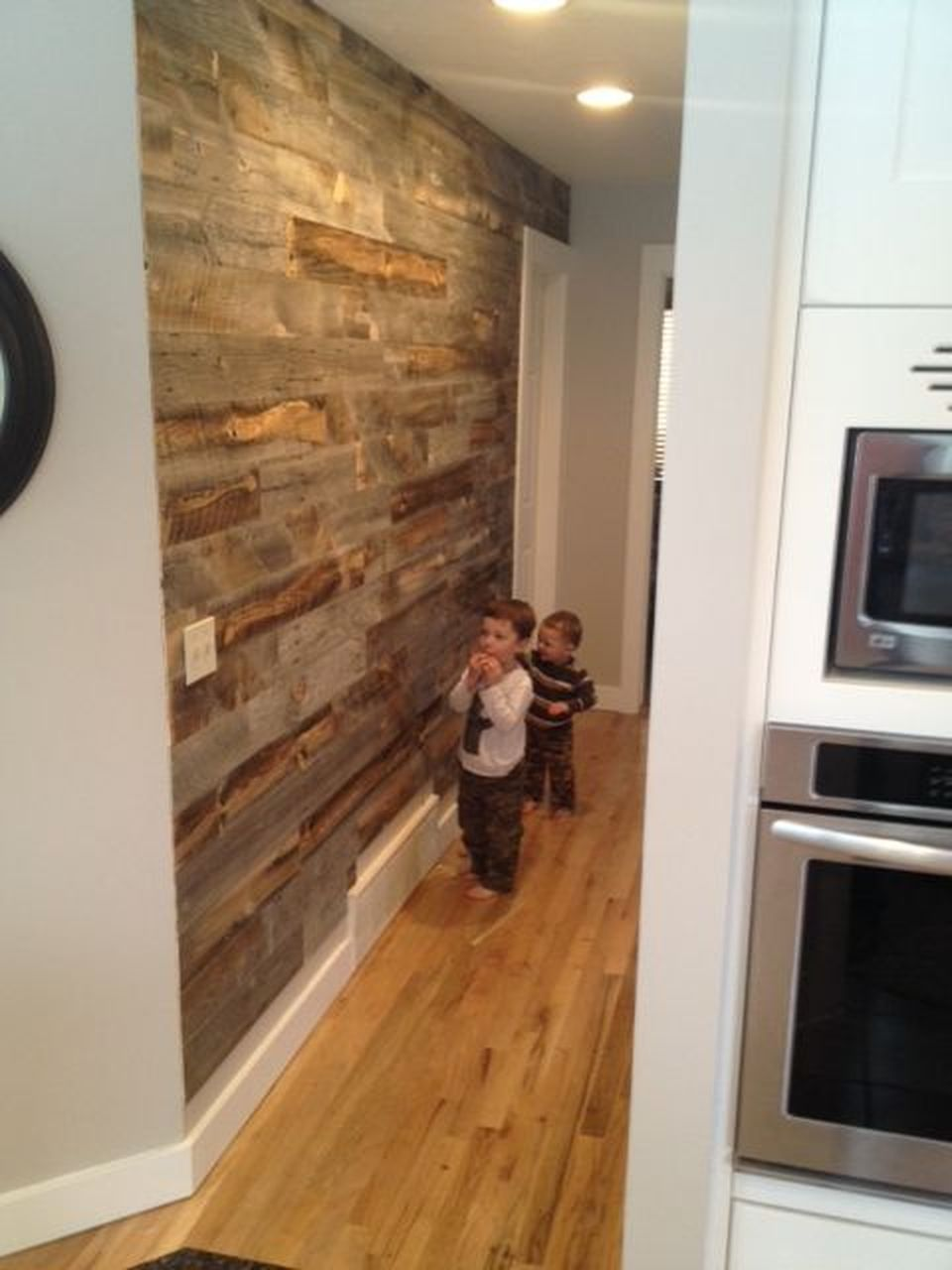 Artistic pallet peel and stick wood wall design decorations also panels provide an instant reclaimed look home rh pinterest