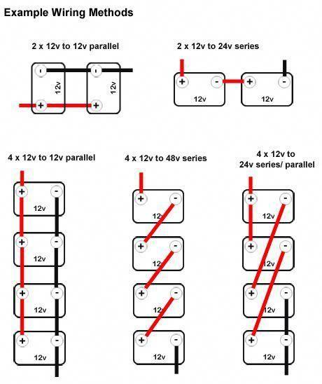 wiring multiple 6 volt batteries together Parallel
