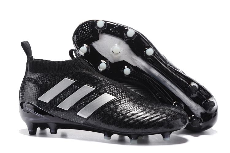 new styles eff2a fdce5 Adidas ACE 17+ PureControl FG 3D Black Silver White Men Soccer Cleats