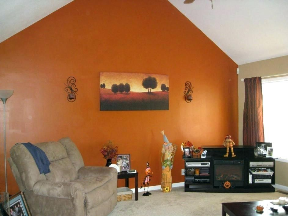 Orange Color Living Room Exciting Wall Decor Collections Burnt Paint Colors For Your