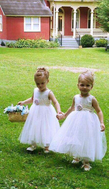 Ivory, lace flower girl dress by Gilly Gray www.gillygray.com