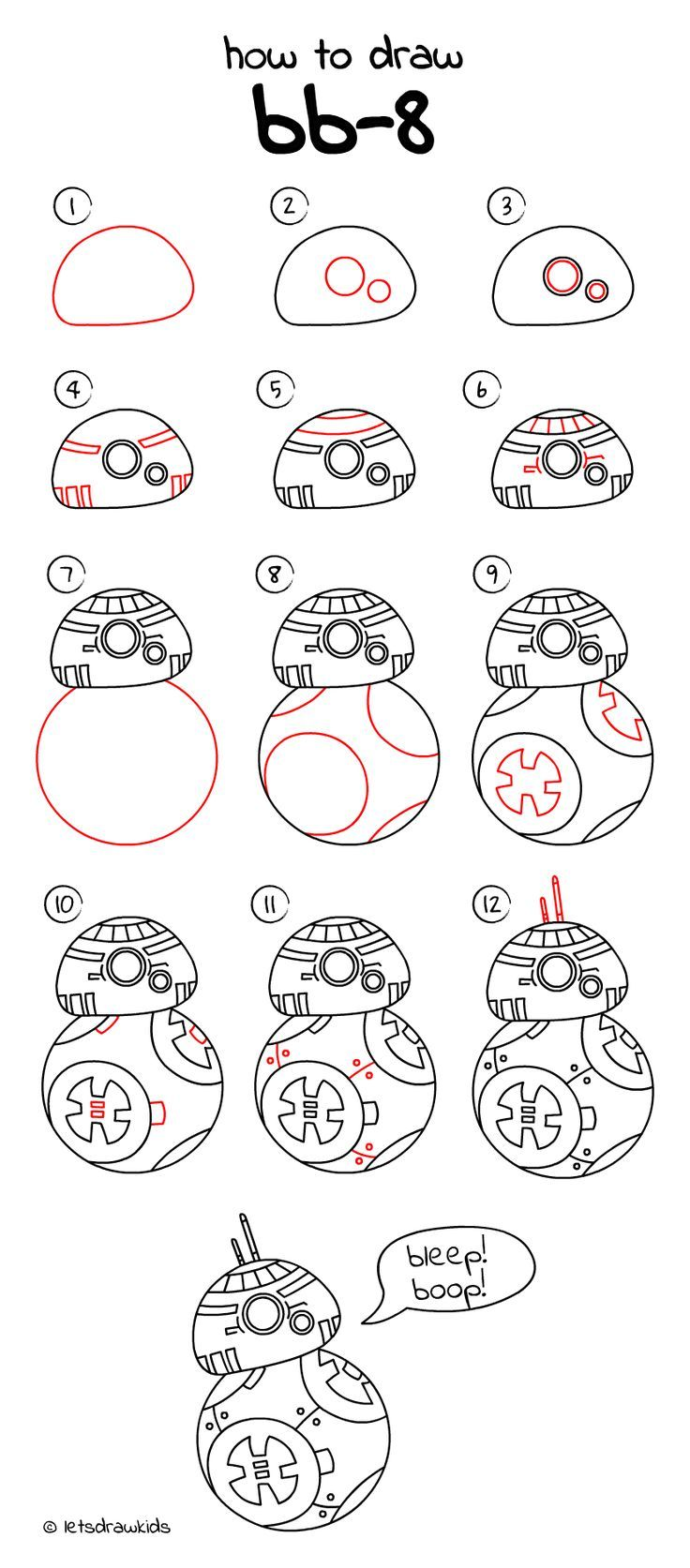 Uncategorized Simple Drawing For Kids Step By Step how to draw bb 8 from star wars easy drawing step by step