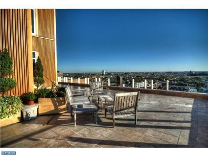 Overlook the city of Philadelphia from this beautiful terrace