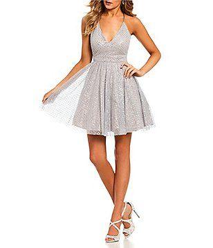 40e134bd6b7 Dear Moon Glitter Pattern Fit-and-Flare Dress