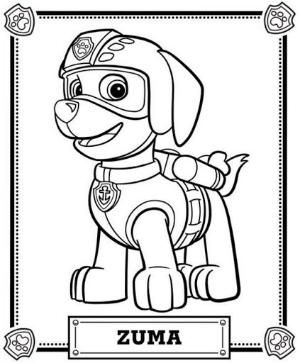 Paw Patrol Coloring Pages By Zcoloringpages Paw Patrol Coloring Paw Patrol Coloring Pages Zuma Paw Patrol