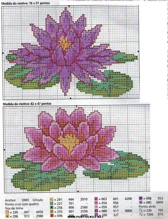 Flores de punto de cruz patrones gratis - Imagui | FLORES ...