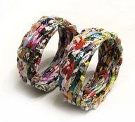 Klinkers+in+Beeld:+Armband+van+tijdschriften