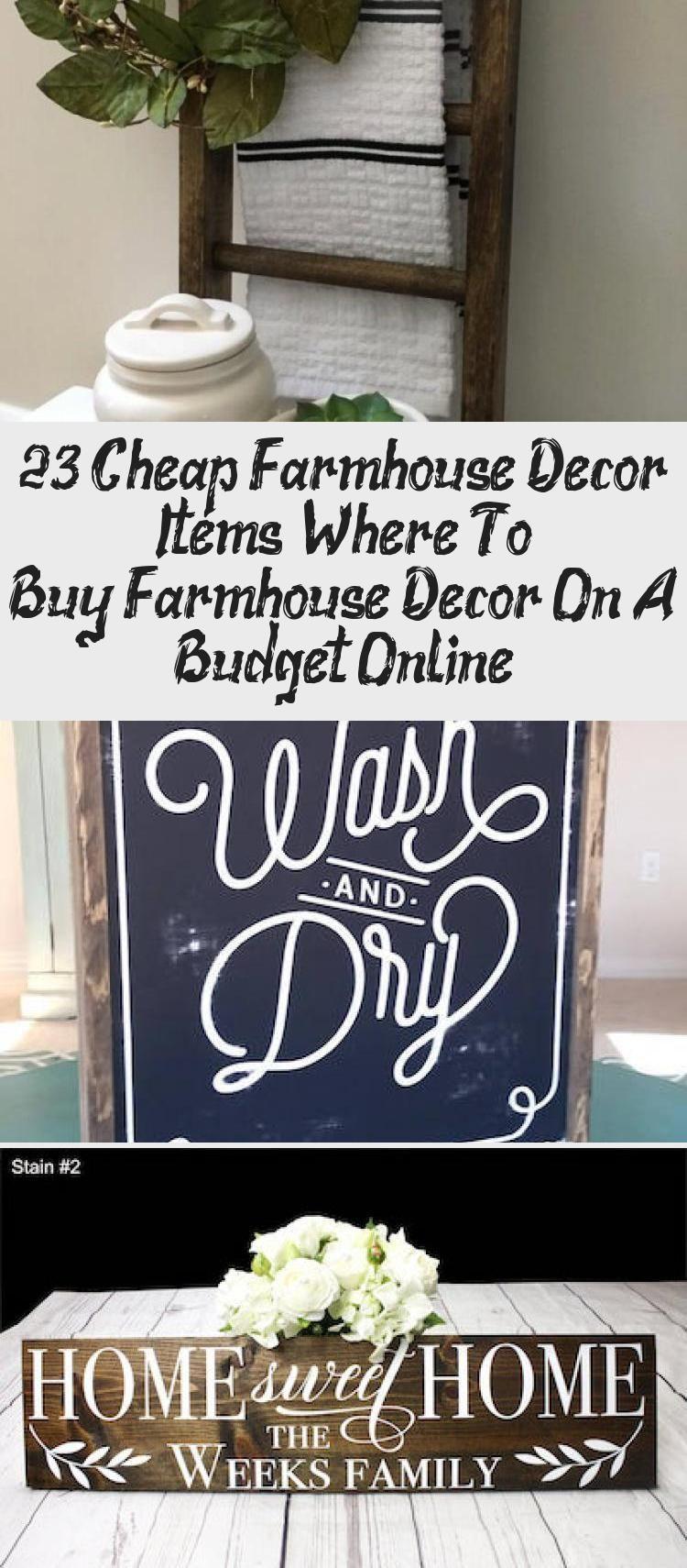 23 Cheap Farmhouse Decor Items  Where To Buy Farmhouse Decor On A Budget Online  DIY  #Bud